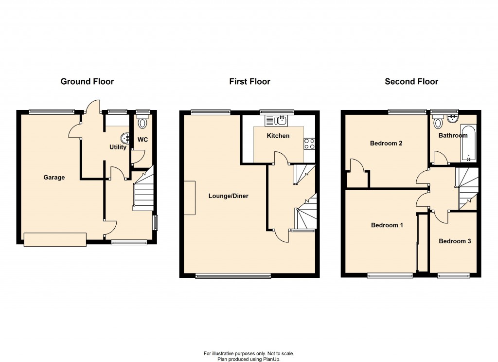 Floorplans For Ormonde Way, Shoreham-by-Sea