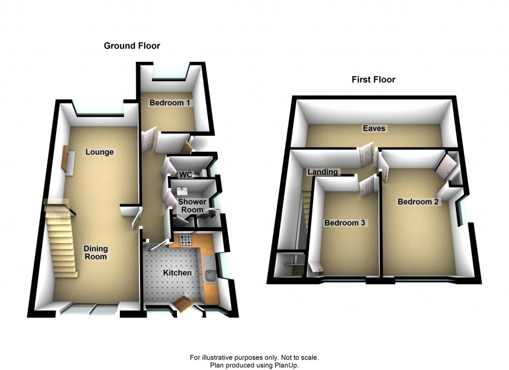 Floorplans For Downsview Road, Portslade