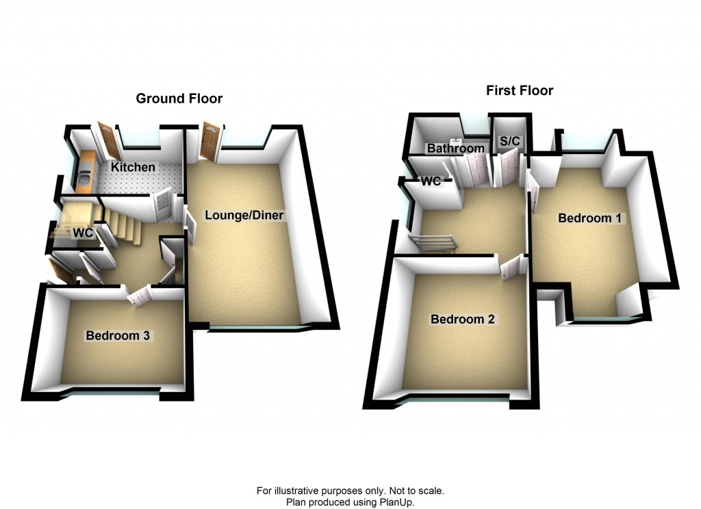 Floorplans For Ravensbourne Avenue, Shoreham-by-Sea