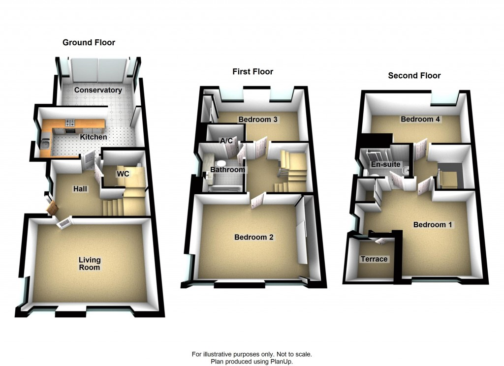 Floorplans For Rainbow Square, Shoreham-by-Sea