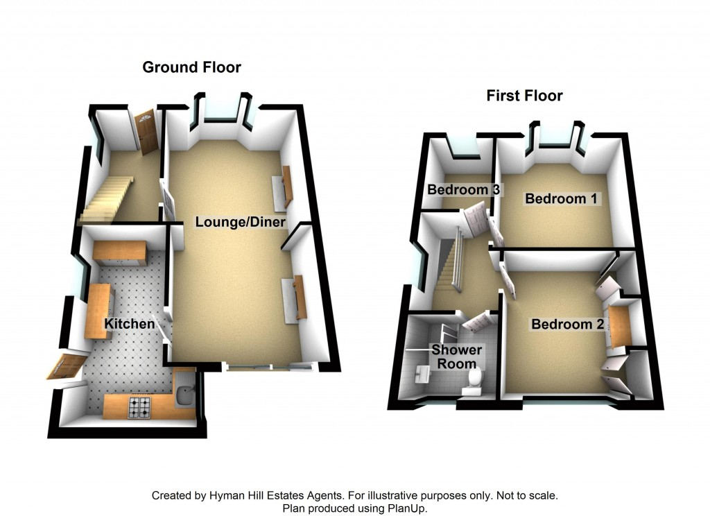 Floorplans For Manor Hall Road, Southwick