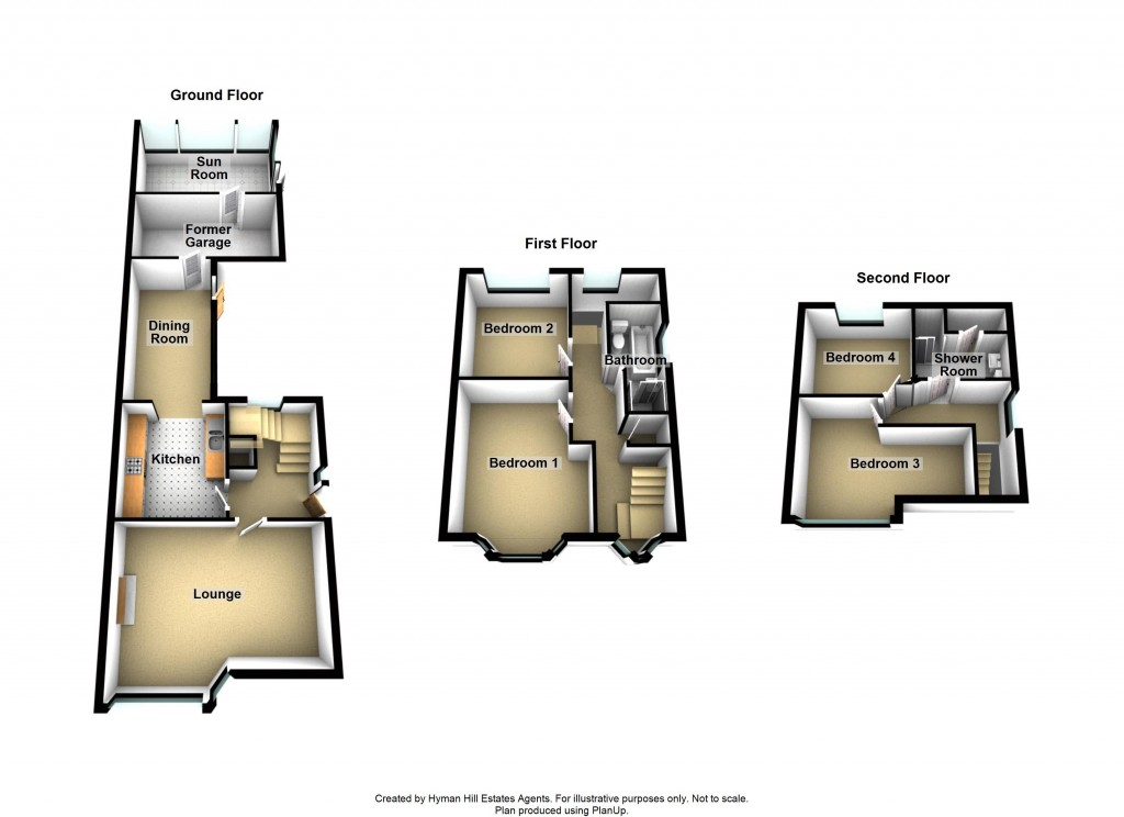 Floorplans For Downland Close, Southwick