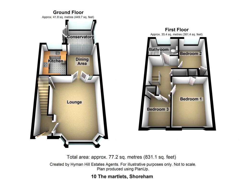 Floorplans For The Martlets, Shoreham-by-Sea