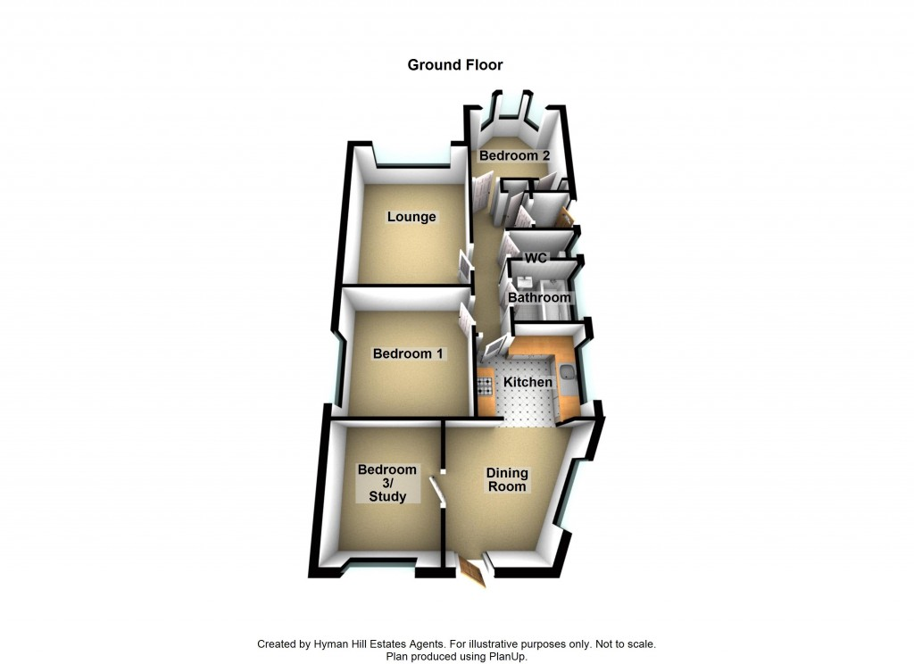 Floorplans For Downside, Shoreham-by-Sea