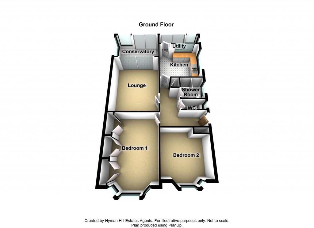 Floorplans For Green Field Close, Southwick