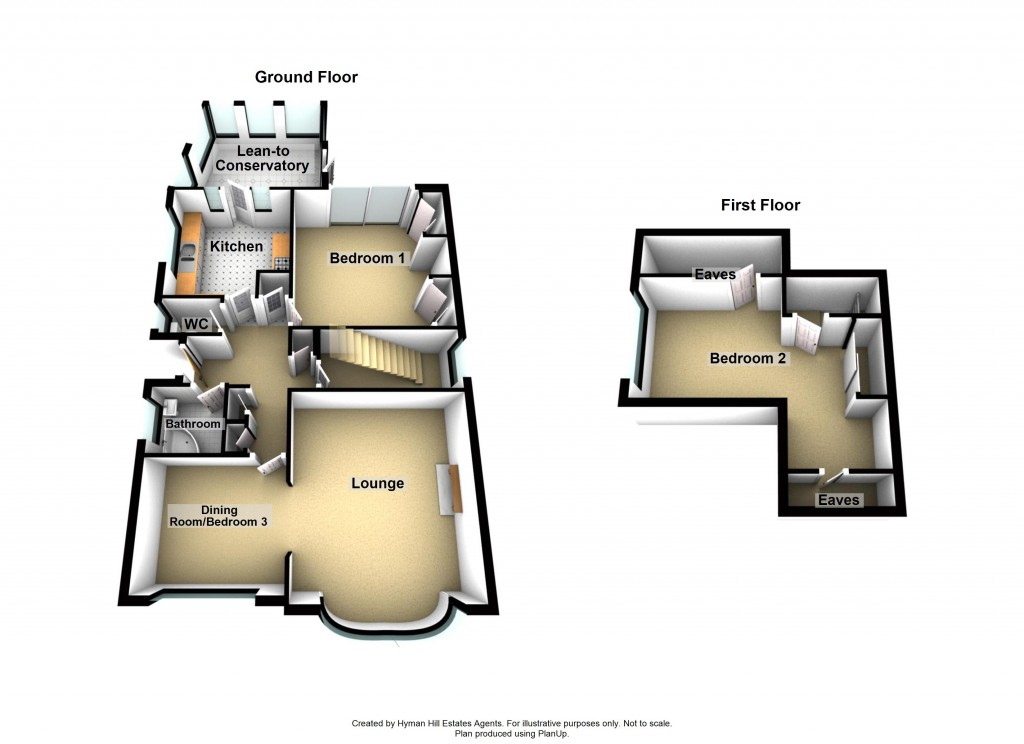 Floorplans For Downsway, Southwick
