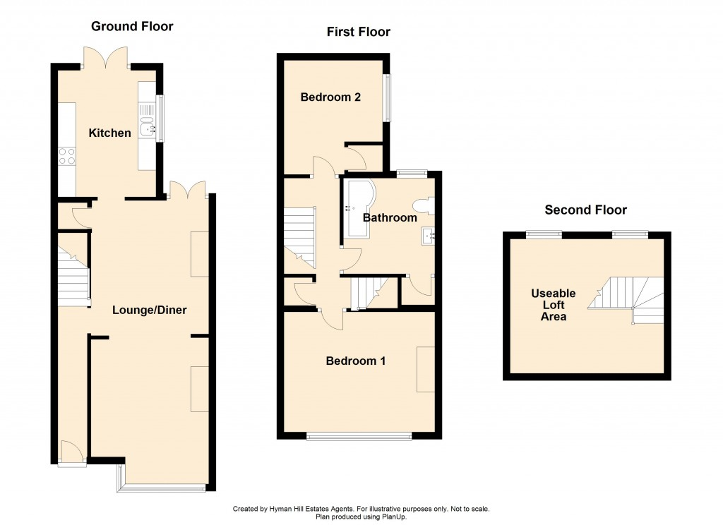 Floorplans For Underdown Road, Southwick