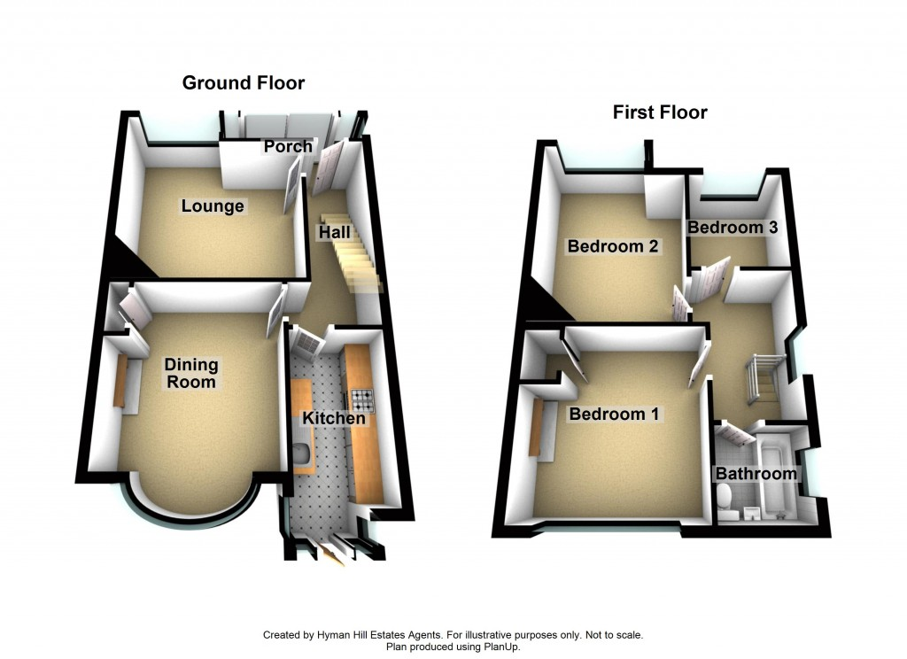 Floorplans For The Twitten, Southwick