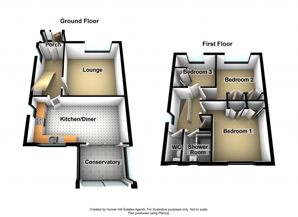 Floorplans For Rosemary Drive, Shoreham-by-Sea