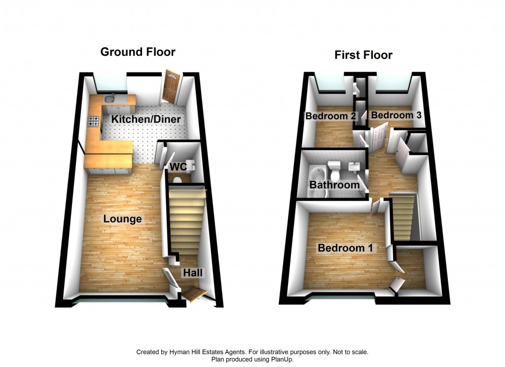 Floorplans For Henge Way, Portslade